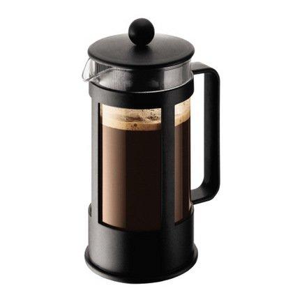 Кофейник с прессом Kenya (0.35 л), 11х8.5х18 см, черныйЗаварочные чайники и Кофейники<br><br><br>Серия: Kenya