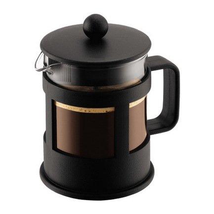 Кофейник с прессом Kenya (0.5 л), 13.3х11.5х17 см, черный