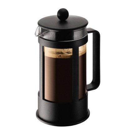 Кофейник с прессом Kenya (1 л), 15х11.2х24 см, черныйЗаварочные чайники и Кофейники<br><br><br>Серия: Kenya