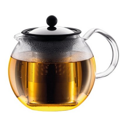 Чайник заварочный с прессом Assam (1 л), 19х15х16 см, хром