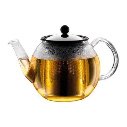 Чайник заварочный с прессом Shin Cha (1 л), 26х18.5х17 см, хром
