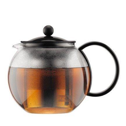 Чайник заварочный c прессом Assam (1 л), черный