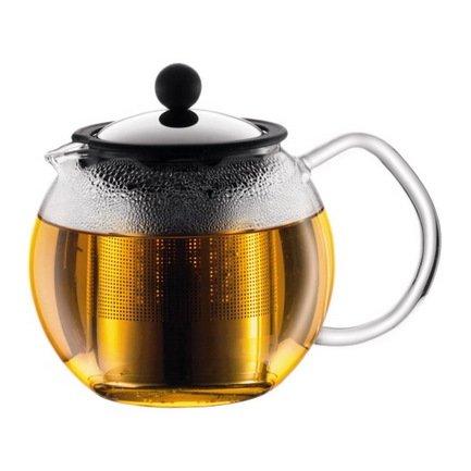 Чайник заварочный с прессом Assam (0.5 л), 14х14х14 см, хром Bodum 1807-16