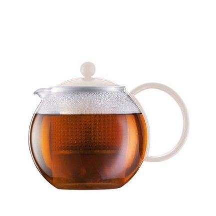 Чайник заварочный с прессом Assam (1 л), 14.8х19.4х14.2 см, белый