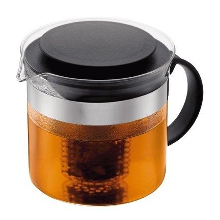 Чайник заварочный с фильтром Bistro (1 л), 13.5х16.2х14 см, черный
