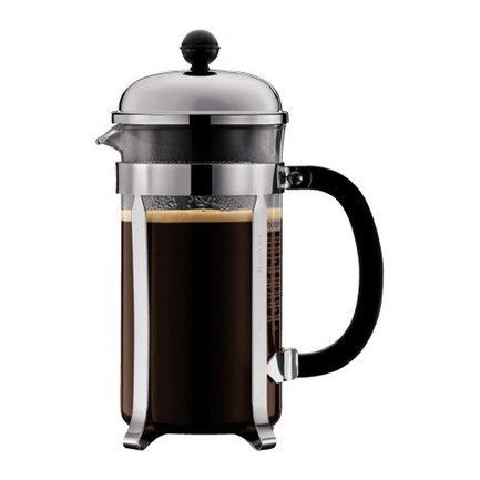 Кофейник с прессом Chambord (1 л), 24.5х17.3х10.6 см, черный