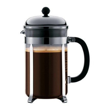 Кофейник с прессом Chambord (1.5 л), черный