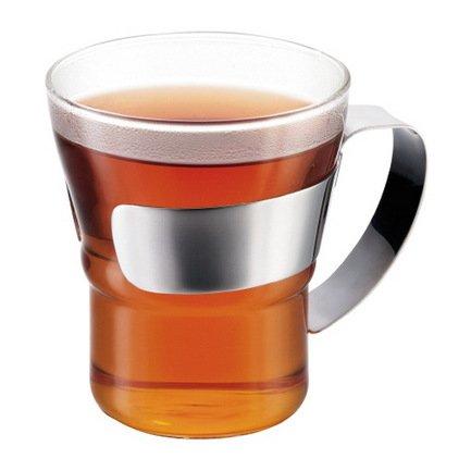 Набор кружек чайных Assam (0.3 л), 2 шт., 8.7х11х9.7 см, хром Bodum 4552-16