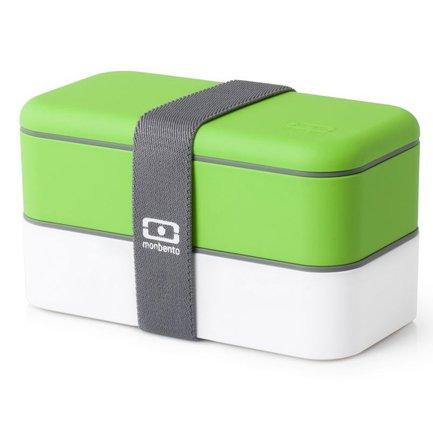 Ланч-бокс MB Original (1 л), зеленый/белый, 18.5х9.4х10 см