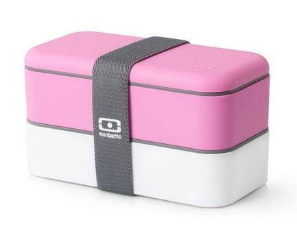 Ланч-бокс MB Original (1 л), розовый/белый, 18.5х9.4х10 см