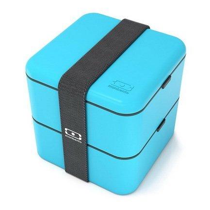 Ланч-бокс MB Square (1.7 л), голубой, 14х14х14 см