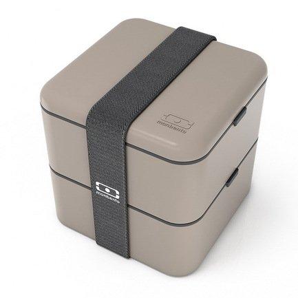 Ланч-бокс MB Square (1.7 л), серый, 14х14х14 см