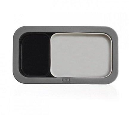 Форма для выпечки под ланч-бокс MB Original, 20x11х3.5 см, серая+черная