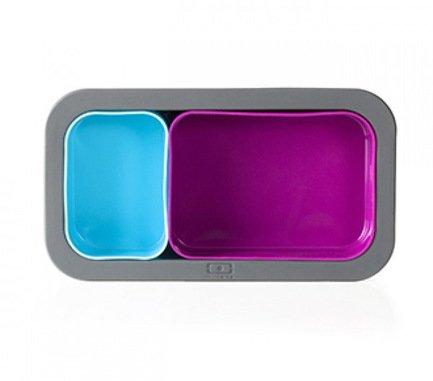 Форма для выпечки под ланч-бокс MB Original, 20x11х3.5 см, фуксия+голубая