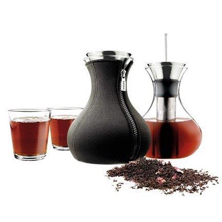 Заварочный чайник в неопереновом чехле Eva Solo, черный, стаканы, 2 шт.
