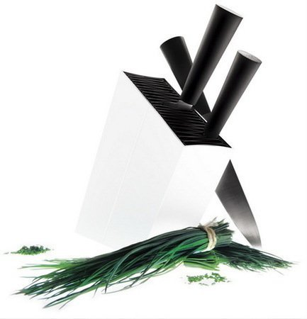 Подставка для ножей Eva Solo, угловая, белая, 24x7.2x27.4 см от Superposuda