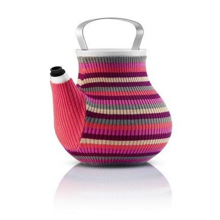 Чайник заварочный Eva Solo My Big Tea в вязаном чехле, розовый в полоску, 20x17.5x19 (1.5 л) 567417