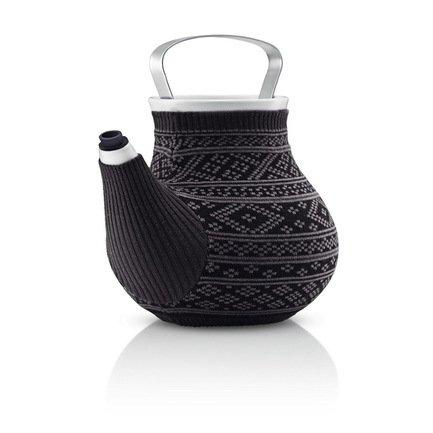 Чайник заварочный Eva Solo My Big Tea в вязаном чехле, серый с узором, 20x17.5x19 (1.5 л) 567414
