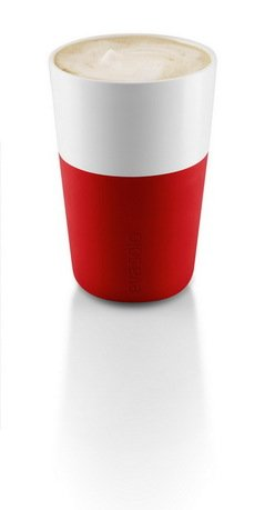 Чашки для латте Eva Solo Latte, красные, 8.5x12.5 см (360 мл), 2 шт.Чашки и Кружки<br><br><br>Серия: Eva Solo Latte