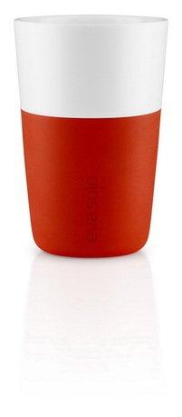 Чашки для латте Eva Solo Latte, оранжевые, 8.5x12.5 см (360 мл), 2 шт.