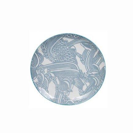 Тарелка Tokyo Design Shiki, серо-голубая, 16x2 см