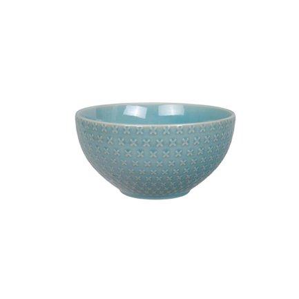 Чаша Tokyo Design Textured, голубой, рельефная, 15.5x9 смСалатницы, Супницы<br><br><br>Серия: Textured