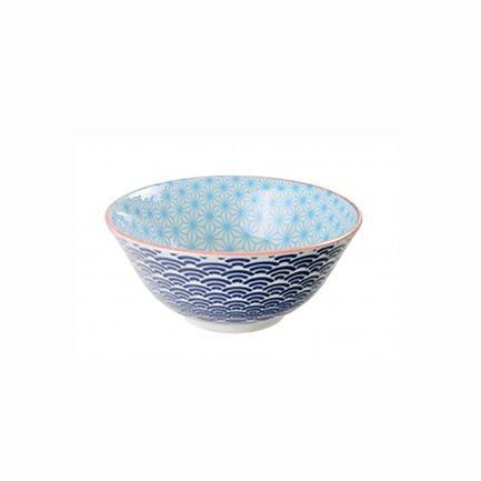 Чаша Tokyo Design Star/Wave, сине-голубая, 15.2x6.5 см