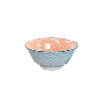 Чаша Tokyo Design Shiki Tayo, голубо-красная, 15x7 см