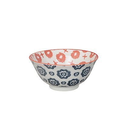 Чаша Tokyo Design Kasuri, сине-красная, 15x7 см