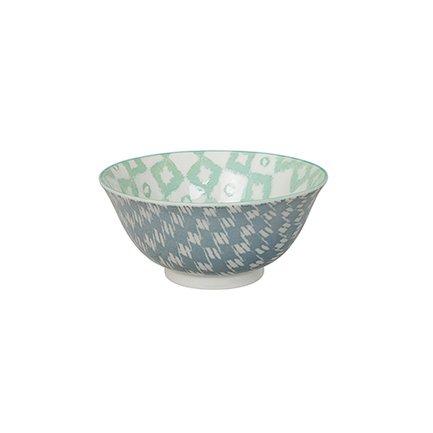 Чаша Tokyo Design Kasuri, голубо-зеленая, 15x7 смСалатницы, Супницы<br><br><br>Серия: Kasuri
