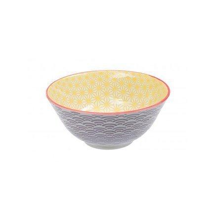 Чаша Tokyo Design Star/Wave, сиренево-желтая, 15.2x6.5 см