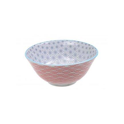Чаша Tokyo Design Star/Wave, красно-серая, 15.2x6.5 см