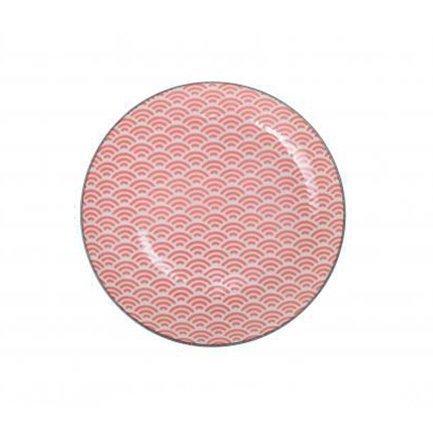 Тарелка Tokyo Design Star/Wave, красная, 20.6x2.2 см