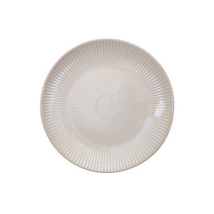 Тарелка Tokyo Design Textured, белая, рельефная, 20x2.5 см