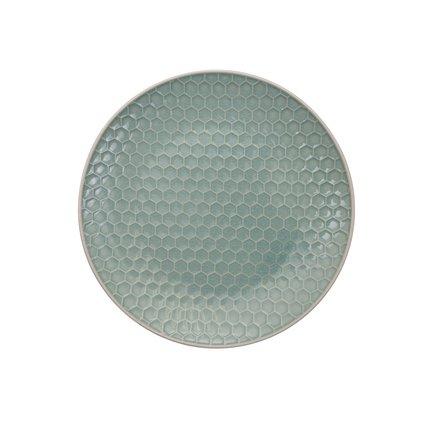 Тарелка Tokyo Design Textured, зеленая, рельефная, 20x2.5 см