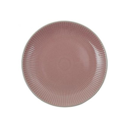 Тарелка Tokyo Design Textured, розовая, рельефная, 20x2.5 см