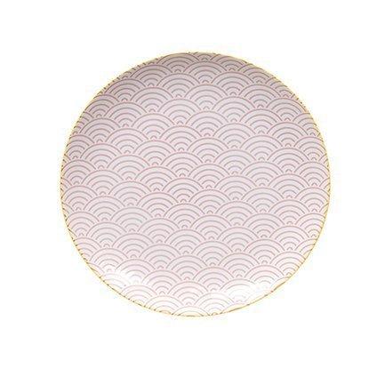 Тарелка Tokyo Design Star/Wave, розовая, 25.7x3 смТарелки и Блюдца<br><br><br>Серия: Star/Wave