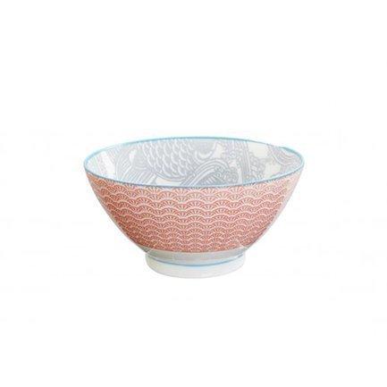 Чаша Tokyo Design Shiki, красно-серая, 18x9 смСалатницы, Супницы<br><br><br>Серия: Shiki