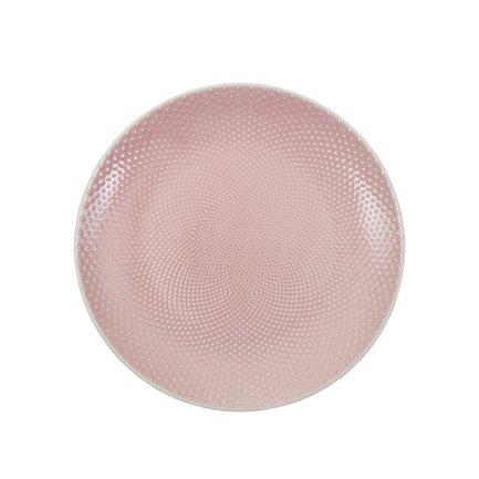 Тарелка Tokyo Design Textured, розовая, рельефная, 25x3 смТарелки и Блюдца<br><br><br>Серия: Textured