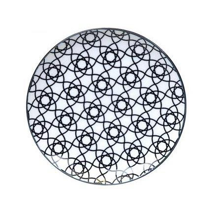 Тарелка Tokyo Design Nippon, черная, 27.5x3 см