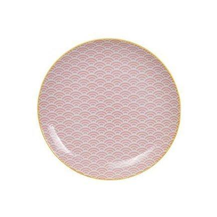 Тарелка Tokyo Design Star/Wave, розовая, 25.7x3 см