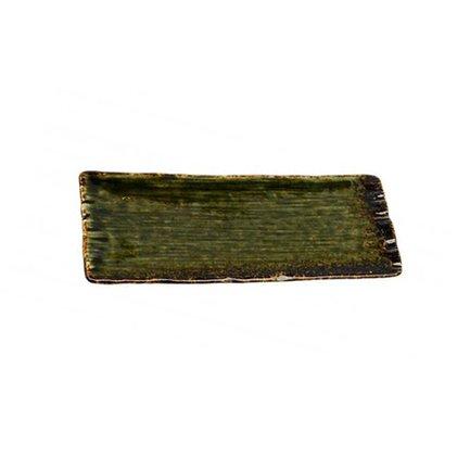 Тарелка Tokyo Design Green Oribe, зеленая, 28.4x12x2 смТарелки и Блюдца<br><br><br>Серия: Green Oribe