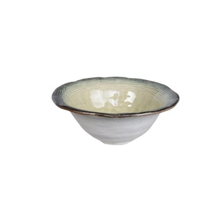 Чаша Tokyo Design Yamasaku Organic Glassy, бело-синяя, 16x6.5 смСалатницы, Супницы<br><br><br>Серия: Yamasaku Organic Glassy