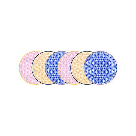 Набор тарелок Tokyo Design Star/Wave, 16x2 см, 6 шт.Тарелки и Блюдца<br><br><br>Серия: Star/Wave<br>Состав: Тарелка, розовая - 2 шт., Тарелка, желтаяя - 2 шт., Тарелка синяя - 2 шт.