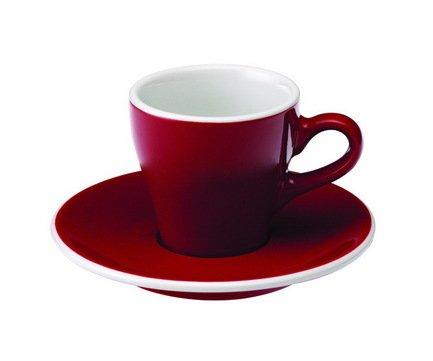 Кофейная пара Loveramics Tulip (0.08 л), красная