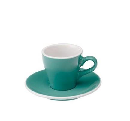 Кофейная пара Loveramics Tulip (0.08 л), бирюзовая
