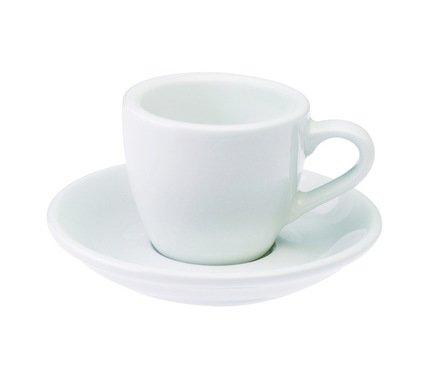 Кофейная пара Loveramics Egg (0.08 л), белаяЧашки и Кружки<br><br><br>Серия: Egg<br>Состав: Чашка (0.08 л), 6.5х5.5 см - 1 шт., Блюдце, 11.5х2 см - 1 шт.