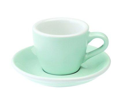 Кофейная пара Loveramics Egg (0.08 л), голубаяЧашки и Кружки<br><br><br>Серия: Egg<br>Состав: Чашка (0.08 л), 6.5х5.5 см - 1 шт., Блюдце, 11.5х2 см - 1 шт.