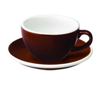 Чайная пара Loveramics Egg (0.2 л), коричневаяЧашки и Кружки<br><br><br>Серия: Egg<br>Состав: Чашка (0.2 л), 9.5х5.5 см - 1 шт., Блюдце, 14.5х2.5 см - 1 шт.