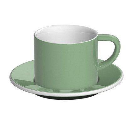 Кофейная пара Loveramics Bond (0.15 л), зеленаяЧашки и Кружки<br><br><br>Серия: Bond<br>Состав: Чашка (0.15 л), 8х6.5 см - 1 шт., Блюдце, 14х1.5 см - 1 шт.